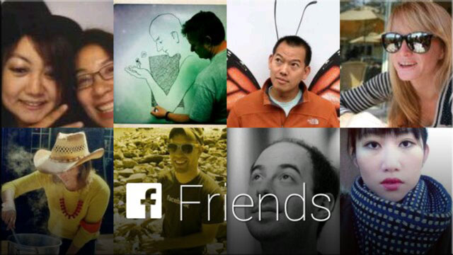 Facebook Google Glass APP share with friends