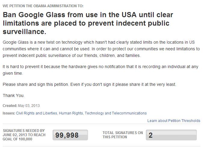 ban google glass