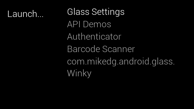 launchy google glass app